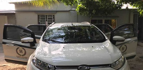 Car rental service at Happy Homes